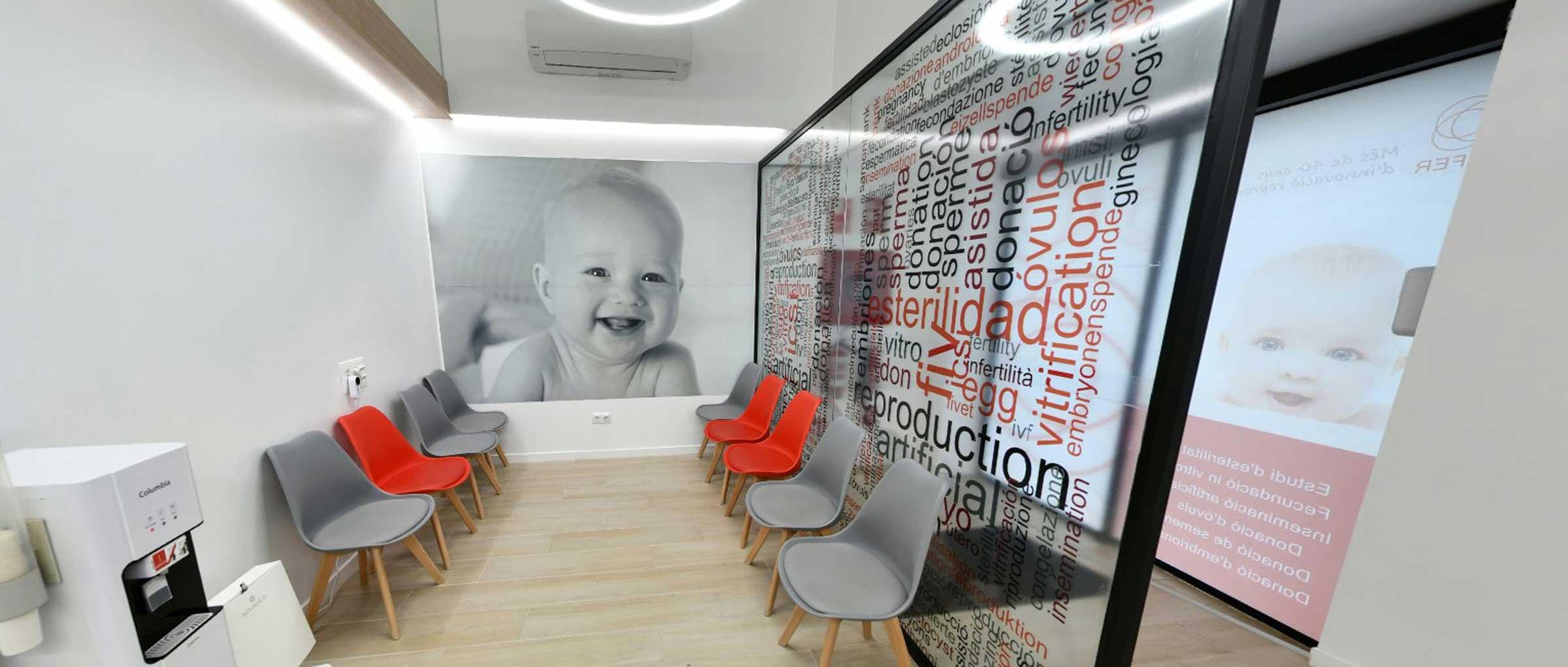 Sala de espera para pacientes en CEFER
