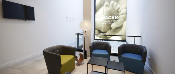 Imagen: Sala de espera de donantes en Reproclinic