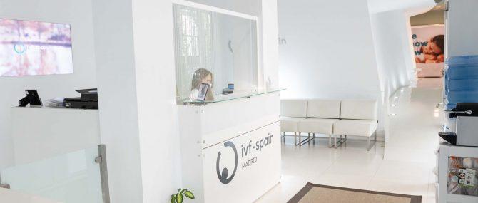 Imagen: Sala de espera y recepción IVF Madrid