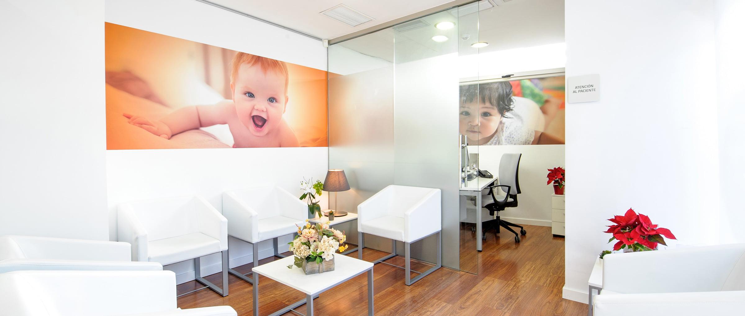 Sala de espera de Juaneda Fertility